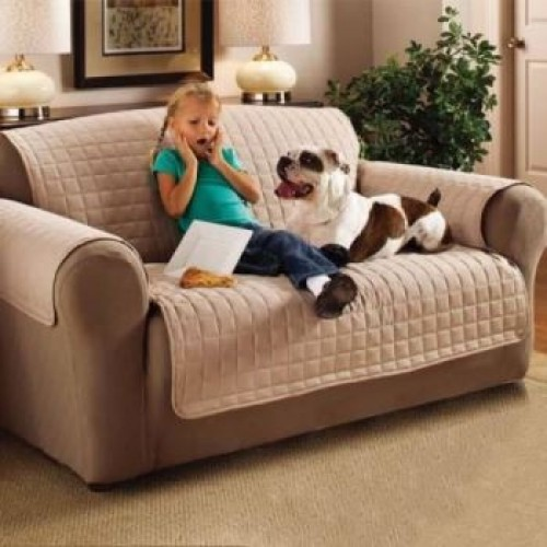 Sofa Protector Cover | Quilted Furniture Protectors And Covers, Reversible,  Waterproof