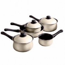 5piece Belly Pan Set Cream