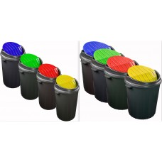 Swing Bin 50l - Kitchen Recycling Bins - Touch Top Bin - 25l